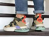 Мужские Кросcовки Nike  Air Force 270 бежевые, фото 3