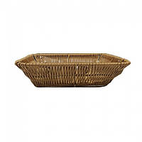 Корзина плетеная прямоугольная для хлеба 22х14х5 (арт. 7318)
