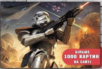 Картина  на холсте 60х40 Звездные войны Штурмовик