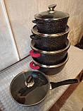 Набір посуду з мармуровим покриттям Benson BN-328 (14 предметів), фото 5