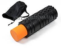Массажный роллер + валик 33 см Black Roll Double в чехле