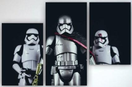 Картина модульная на холсте Звездные войны Штурмовик 90х60