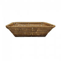Корзина плетеная прямоугольная для хлеба 25х17х6 (арт. 7319)