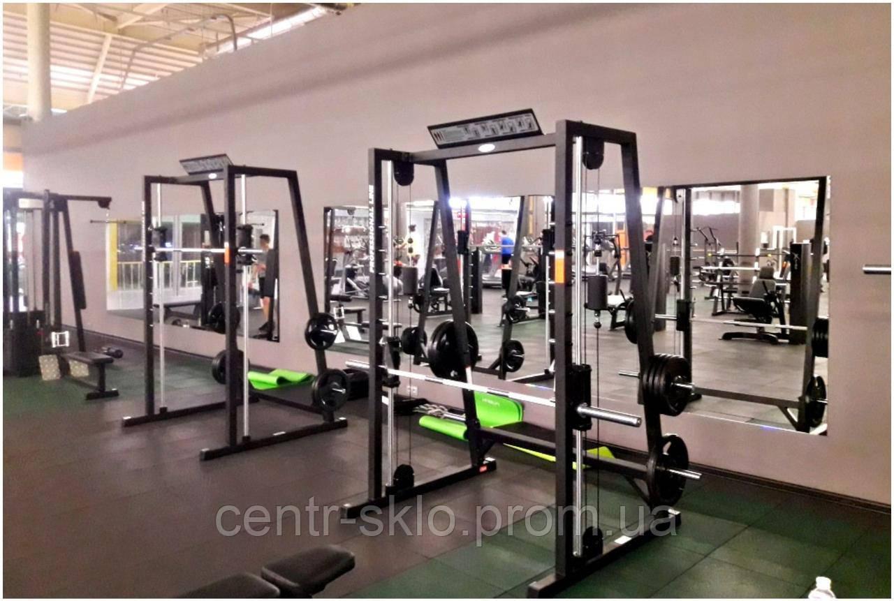 Обустройство спортивных залов зеркалами.