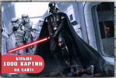 Картина  на холсте Звездные войны Дарт Вейдер 60х40