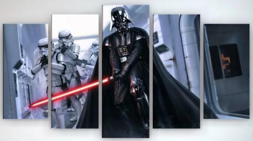 Картина модульная на холсте Звездные войны 125х70