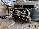 Захисна дуга, кенгурятник Volkswagen Caddy 2010-2015 (Туреччина), фото 2