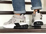 Мужские Кросcовки Nike  Air Force 270 серо-белые, фото 3