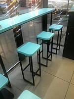 Меблі лофт для мережі кав*ярень Бінокль Кава (м. Київ) 1