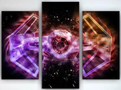 Картина модульная на холсте 90х70 Звездные войны