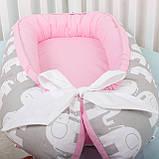 Кокон гнездышко, бейбинест, кроватка для новорожденного, люлька, бортики мягкие в кровать детскую, фото 3