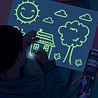 Набор для творчества Рисуй светом А2 (59х39 см) односторонний коврик ТМ Люмик, фото 4