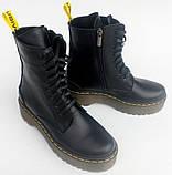 Ботинки, мартинсы женские демисезонные кожаные от производителя модель НБ23Д, фото 4