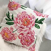 Декоративная подушка велюровая с принтом