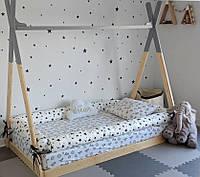 """Бортики мягкие для полуторной подростковой детской кровати """"Любой цвет"""", набор 3 шт"""