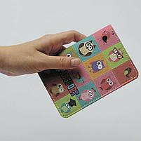 """Обкладинка на паспорт """"Сови"""", Обложка для паспорта экокожа """"Совушки необычные"""" 285, фото 4"""