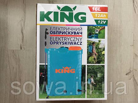 ✔️ Опрыскиватель Аккумуляторный  KING 16L, 12Ач, 5,5МПа, фото 2