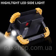 Ліхтар прожектор 20 w переносний Trlife PL 141 Ліхтарик LED 20 Вт Power bank, фото 3