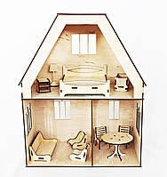 Деревяний двоповерховий ляльковий будинок, Україна, фото 1