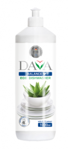 Экологическое средство для мытья посуды DAVA BALANCE с экстрактом алоэ, 1000мл