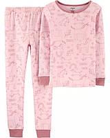 Трикотажная детская пижама Единороги Картерс для девочки