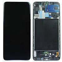 Дисплей Samsung A70 2019 SM-A705 Original 100% Service Pack Black