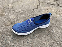 Кроссовки женские без шнурка голубые KG оптом, фото 1