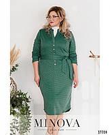 Повседневное платье из вискозного трикотажа(размеры 58-62), фото 1