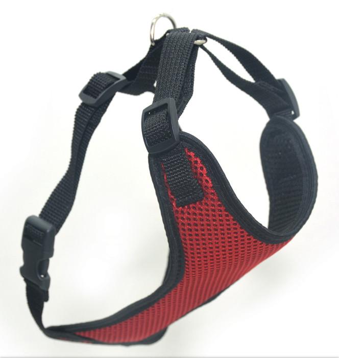 Шлея для животных Спорт №4 нагрудник сетка красный