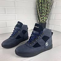 """Мужские ботинки зимние из натуральной кожи, внутри натуральная шерсть. В стиле """"Timberland""""."""