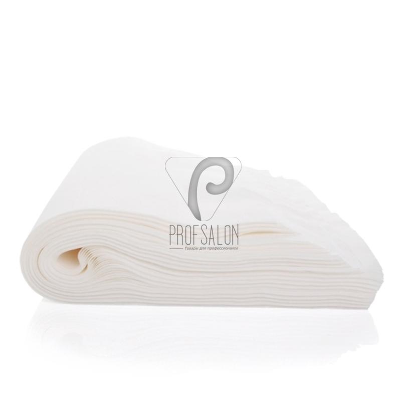 Одноразовые полотенца Doily 40х70см 40г/м2, для парикмахерских, гладкие/сетка, 100 шт в пластах