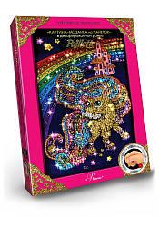 Картина мозаика Paillette Пони в декорированной рамочке Пм-01-20