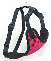 Шлея для животных Спорт №3 нагрудник сетка розовый, фото 1