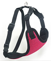 Шлея для животных Спорт №4 нагрудник сетка розовый, фото 1