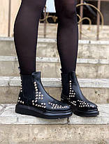 "Ботинки Alexander McQueen Chelsea ""Черные"", фото 3"