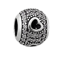 Шарм GS серебряный с камнями