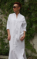 Платье рубашка из льна свободного силуэта, фото 1