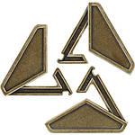 Huzzle Delta 3* Металлическая головоломка Дельта Hanayama (Japan), фото 2