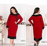 Платье женское без застёжек красное, фото 3