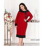 Платье женское без застёжек красное, фото 4