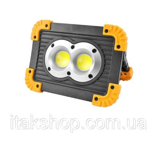 Ліхтар прожектор 20 w переносний Trlife PL 141 Ліхтарик LED 20 Вт Power bank, фото 2