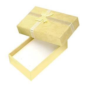 Коробочка подарочная для бижутерии Нежная Желтая