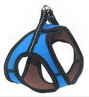 Шлея для животных Фитнес №1 неопреновая голубая, фото 1