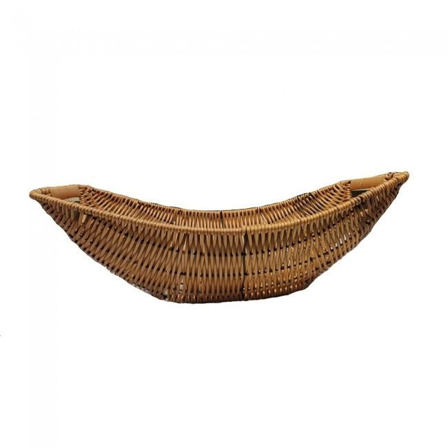 Корзина плетеная овальная для фруктов, хлеба Ладья 38х24х10 (арт. 7333)