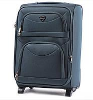 Маленький прочный зеленый дорожный чемодан на 2 колесах фирма Wings Одесса Украина