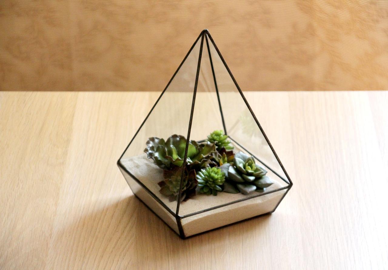 Флорариум для цветов Пирамида пятигранная 300х200