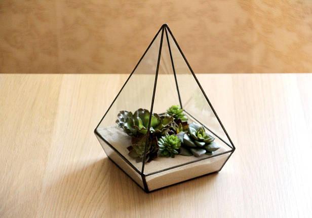 Флорариум для цветов Пирамида пятигранная 300х200, фото 2
