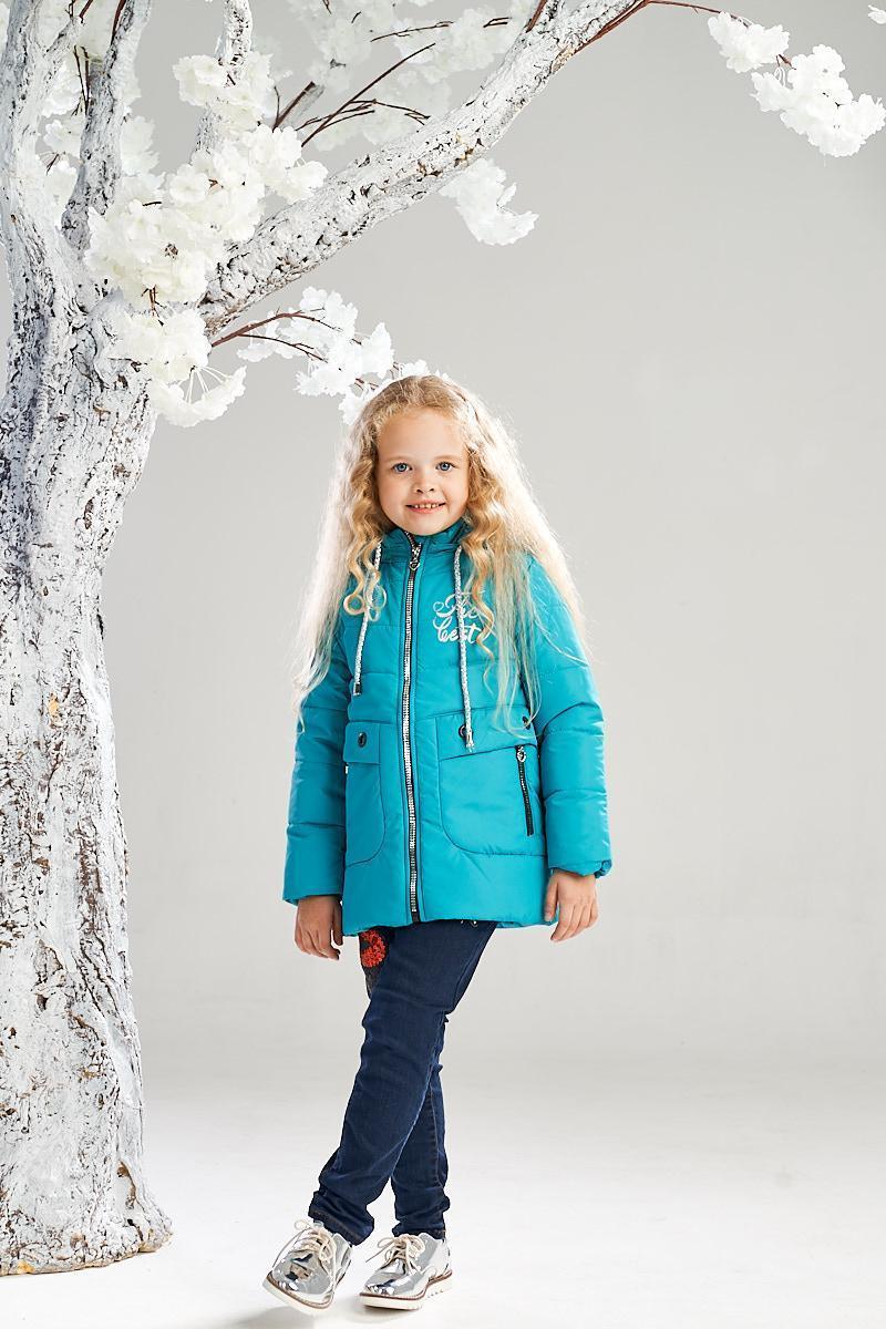 Демисезонная куртка на девочку ANSK 122 голубая 7334000D