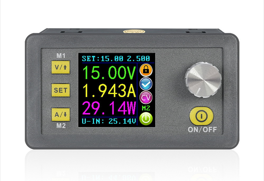 RIDEN DPS5005 0-50V 0-5A 250Вт Лабораторний Понижуючий блок модуль живлення з цифровим управлінням USB BT