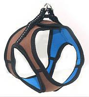 Шлея для животных Фитнес №2 неопреновая коричневая, фото 1
